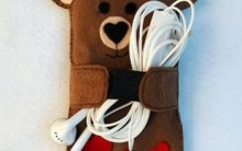 Porta Celular Urso Feito de Feltro – Como Fazer