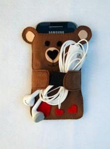 porta-celular-urso-feltro