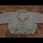 Casaquinho de Recém-Nascido Feito em Crochê – Vídeo e Passo a Passo
