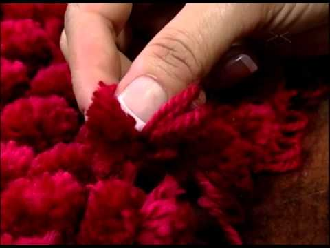 Almofade de lã feita com tear