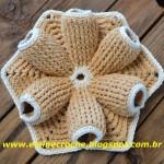 Flor Feita de Crochê Modelo 1 – Material e Como Fazer