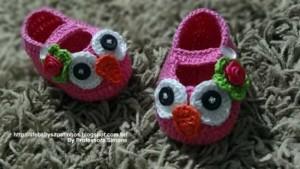 Sapatinho Corujinha Infantil Crochê – Material e Passo a Passo