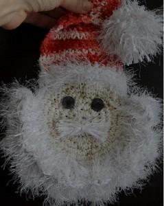 Papai Noel Feito de Crochê – Material e Como Fazer