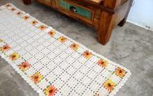 Passadeira Feito de Crochê – Material, Gráfico e Como Fazer