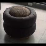 Puff Feito de Pneus Usado – Material e Vídeo Explicativo
