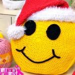 Almofada de Crochê Emoji  Natal – Material e Passo a Passo