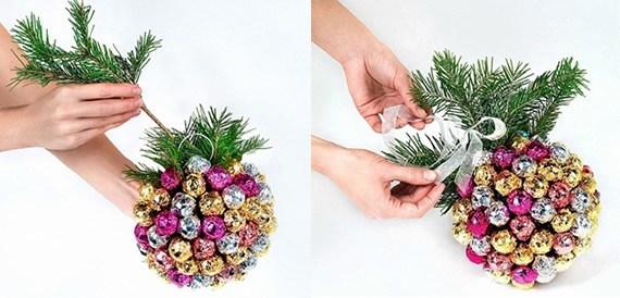 Enfeite de Natal Feito Com Pirulitos Passo 4