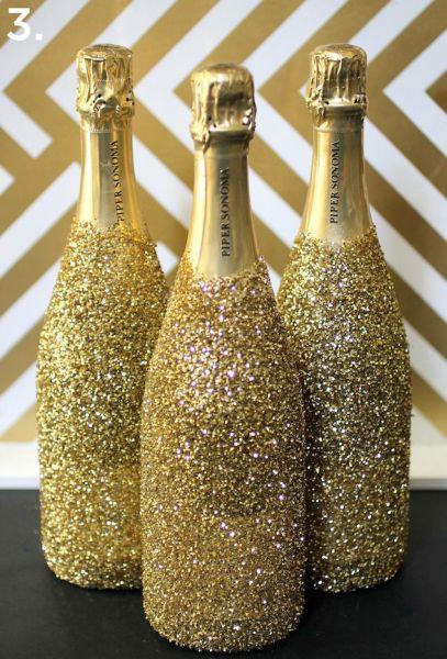 Garrafas de Champagne Decorada Final