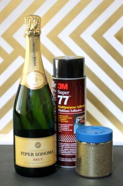 Material Para Fazer Garrafas de Champagne Decorada