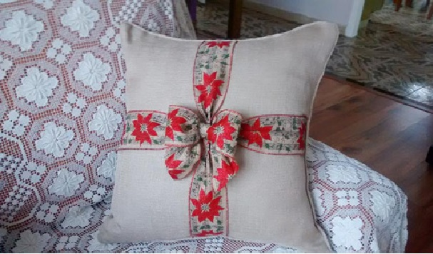 Almofadas Customizadas Para o Natal  modelo