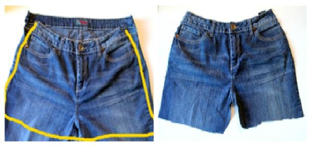 Avental de Jeans  corte