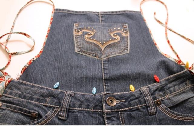 Avental de Jeans frente