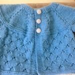 Casaquinho Tricô de Bebê Azul  – Como Fazer