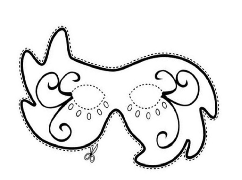Moldes de Máscaras para Carnaval molde2
