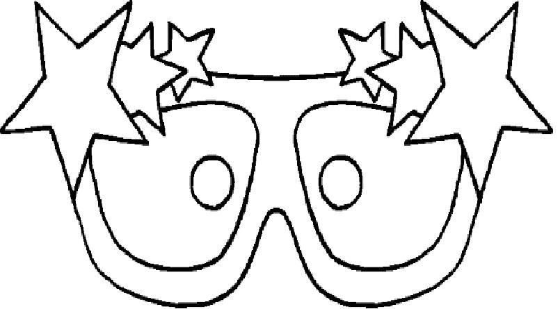 Moldes de Máscaras para Carnaval molde3