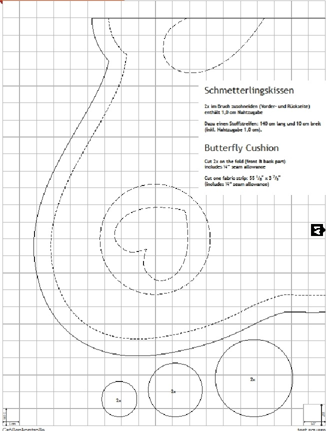Almofada Borboleta de Tecido – Molde