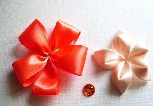 Flor de Cetim Para Elástico colar