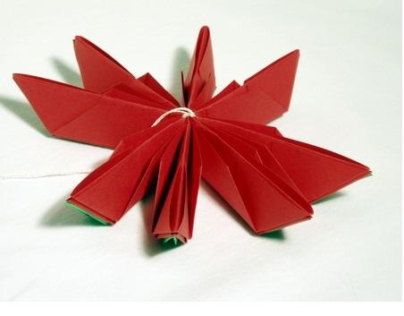 Flor de Lotus Feito de Origami  dobra