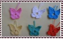 Mini Borboletas em Crochê – Como Fazer