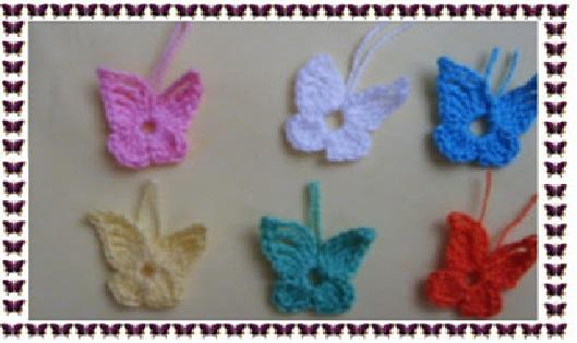 Mini Borboletas em crochê -  Como Fazer