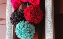 Pompom Colorido de Tecido – Como Fazer