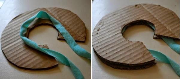 Pompom colorido de tecido  Como Fazer