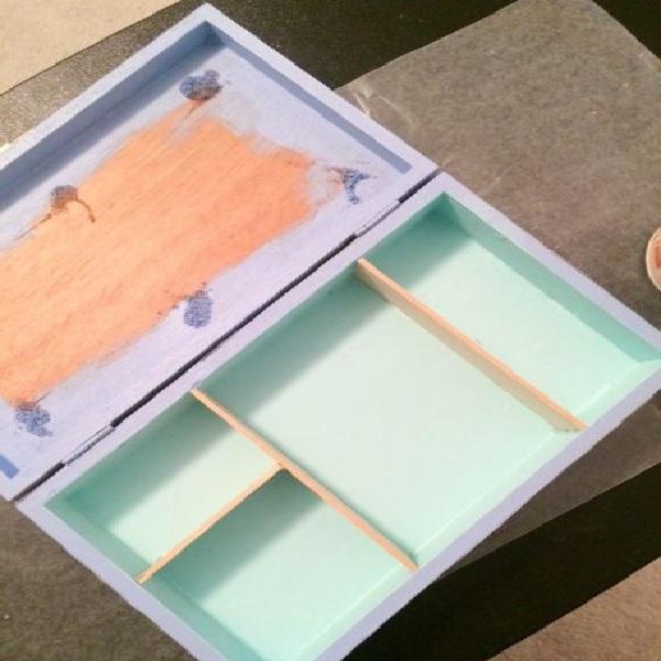 Caixa de Joias Decorada –  Material e