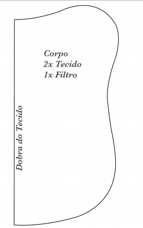 Peso de Porta Corujinha de Tecido -molde corpo