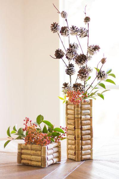 Vaso Customizado Com Rolhas de Cortiça