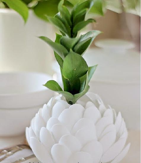 Vaso de flor Com Colheres – Como Fazer