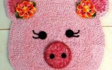 Tapete Porquinha em Crochê – Receita e Vídeo