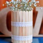 Arranjo de Flores Com Palitos de Sorvete – Como Fazer