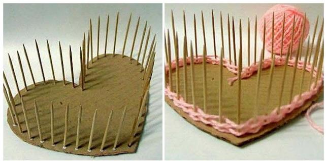 Caixa Coração de Palito de Dente Como Fazer