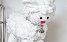 Ovelha Feita de Crochê Cisne – Material, Gráfico e Execução