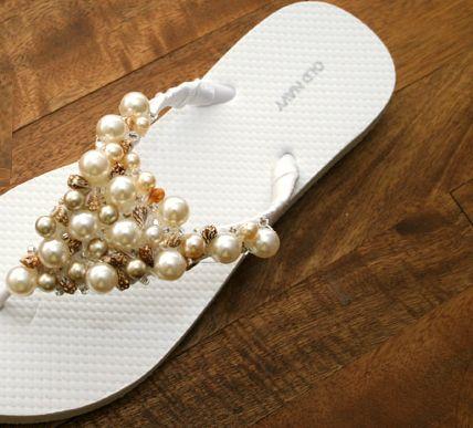 Sandália de Pérola em Chinelo