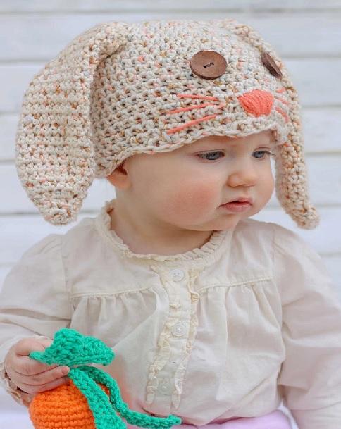 Touca Infantil de Coelho Crochê - Como Fazer ba