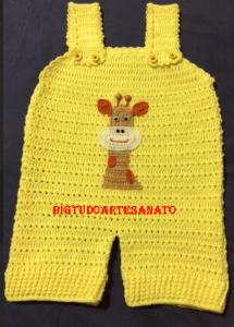 Macaquinho de Crochê Girafa – Material, Gráfico e Como Fazer