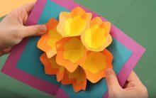 Cartão Flores 3D Dia das Mães – Material e Vídeo