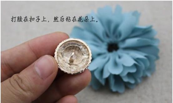 Flor Tecido Com Alinhavo – botão