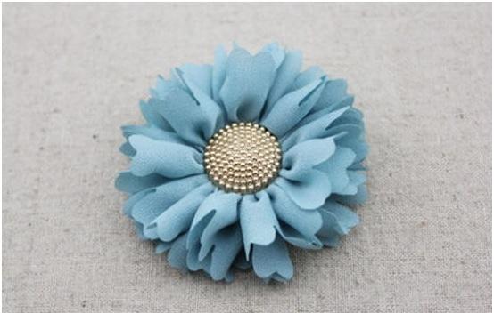 Flor Tecido Com Alinhavo –
