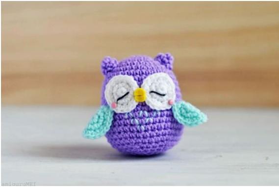 Mini Coruja em Crochê – Como Fazer