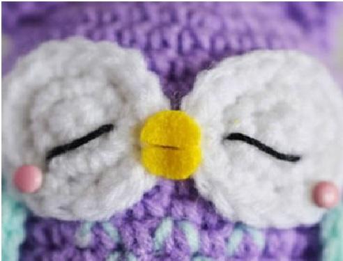 Mini Coruja em Crochê – pronta