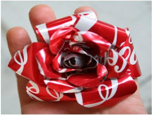 Rosa Feita de Lata - Material e Como Fazer