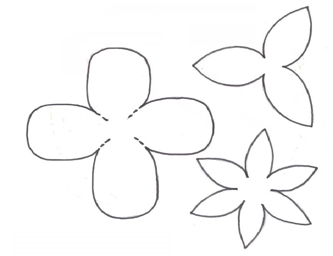 Rosa Feita de Lata - Material e molde