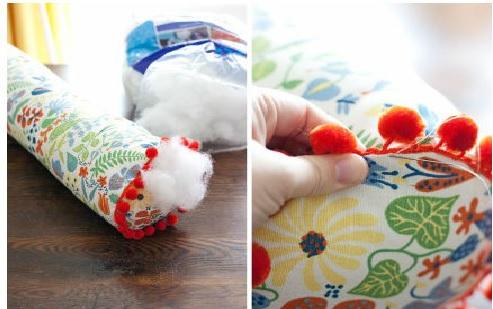 Travesseiro Rolo - Material enefite