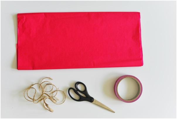 flor papel de seda material