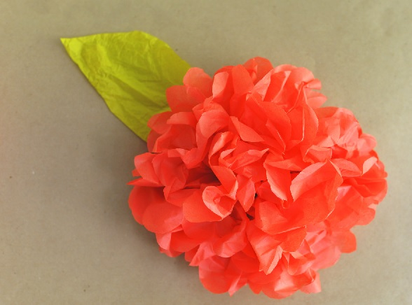 flor papel de sedas