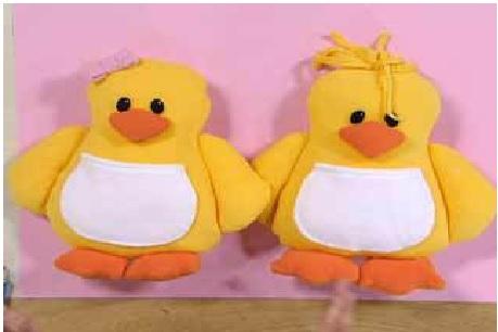 Almofada Pato em Tecido - par