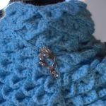 Gola Crochê Ponto Crocodilo – Material e Como Fazer