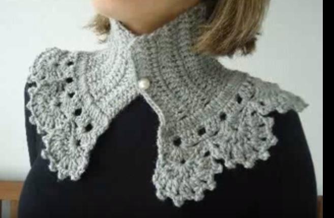 Gola Vintage de Crochê